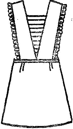 Фартук вязание — передник